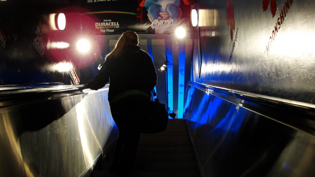 Escalator to Charmin bathrooms