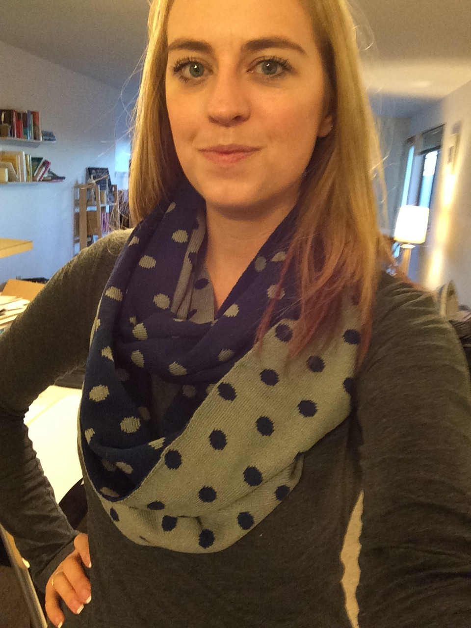 Bay to Baubles Ashley Polka Dot Infinity Scarf - Stitch Fix