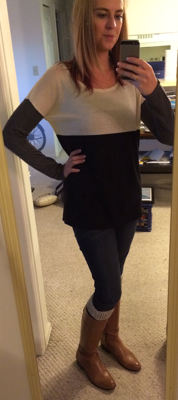 Fate Isaias Colorblocked Long Sleeve Sweater Front View - Stitch Fix