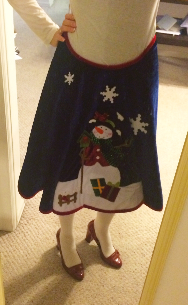 DIY Ugly Sweater Skirt - a Tree Skirt!