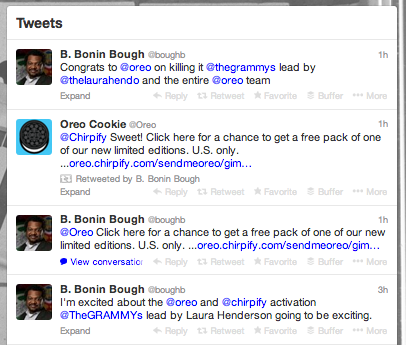 Twitter account for B. Bonin Bough