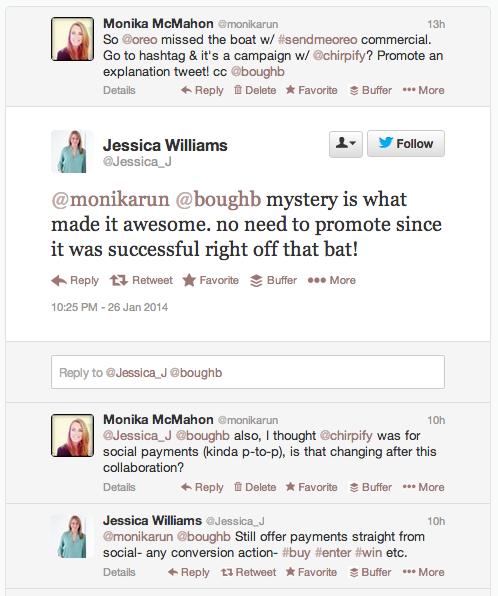 @Jessica_J's Replies to @monikarun about #sendmeoreo