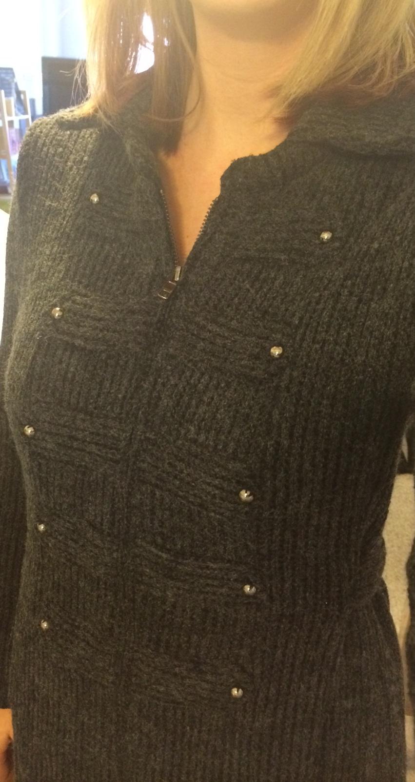 Stitch Fix Mystree Edson Knit Sweater Coat Close Up