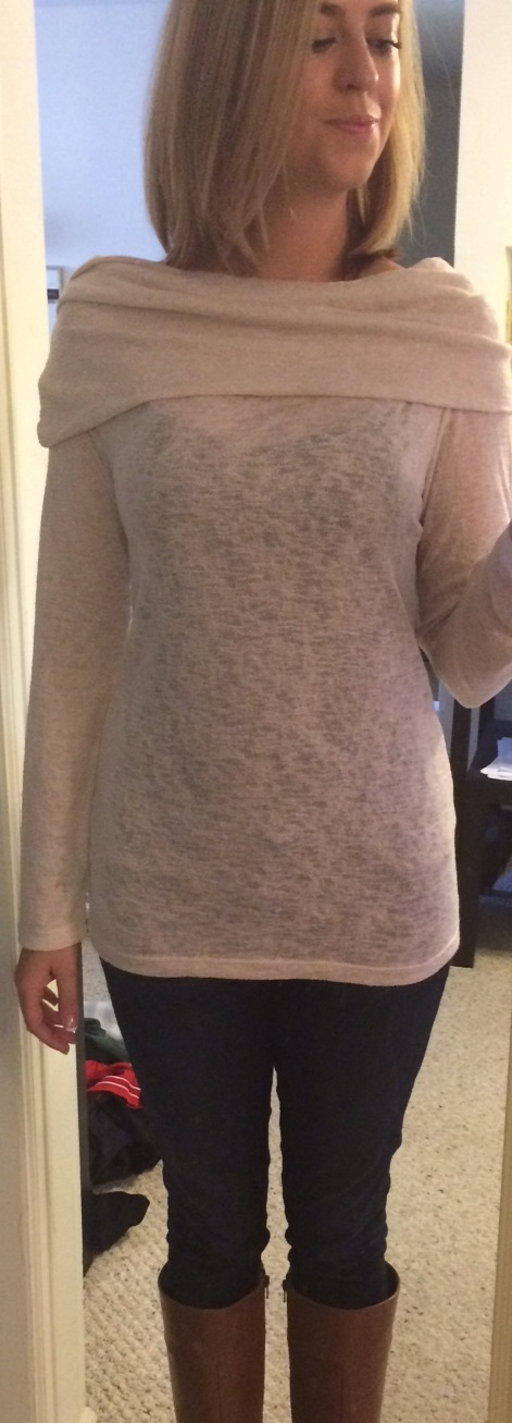 Stitch Fix Renee C Byron Fold-Over Cowl Knit Shirt Front View