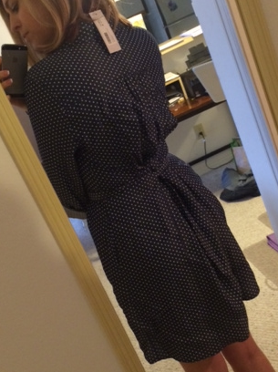 41 Hawthorn - Sedona Dot Print Shirtdress - Stitch Fix - Back Gathering