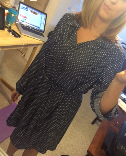 41 Hawthorn - Sedona Dot Print Shirtdress - Stitch Fix - Front View