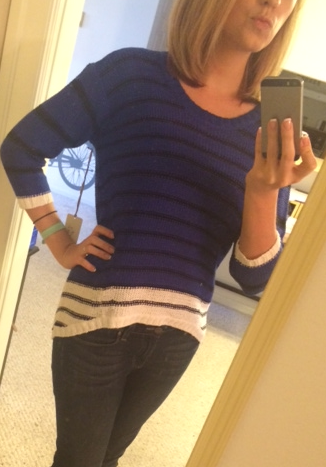 RD Style - Talent Colorblock Stripe Hi-Lo Sweater - Stitch Fix - Front View