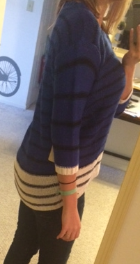 RD Style - Talent Colorblock Stripe Hi-Lo Sweater - Stitch Fix - Side View