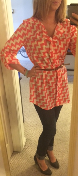 Under Skies - Geena Chevron Print Belted Tunic - Stitch Fix