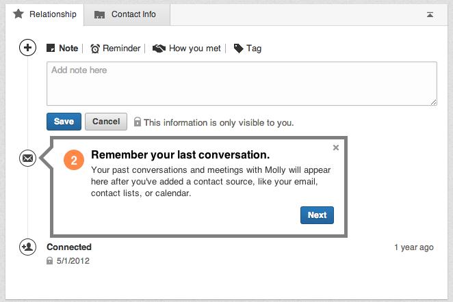 LinkedIn Relationship Management Walkthrough Step 2