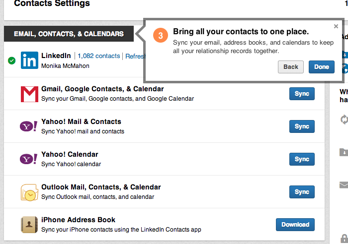 LinkedIn Sync Contacts for Relationship Management