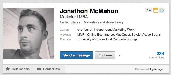 Jonathon McMahon Relationship to Monika McMahon on LinkedIn