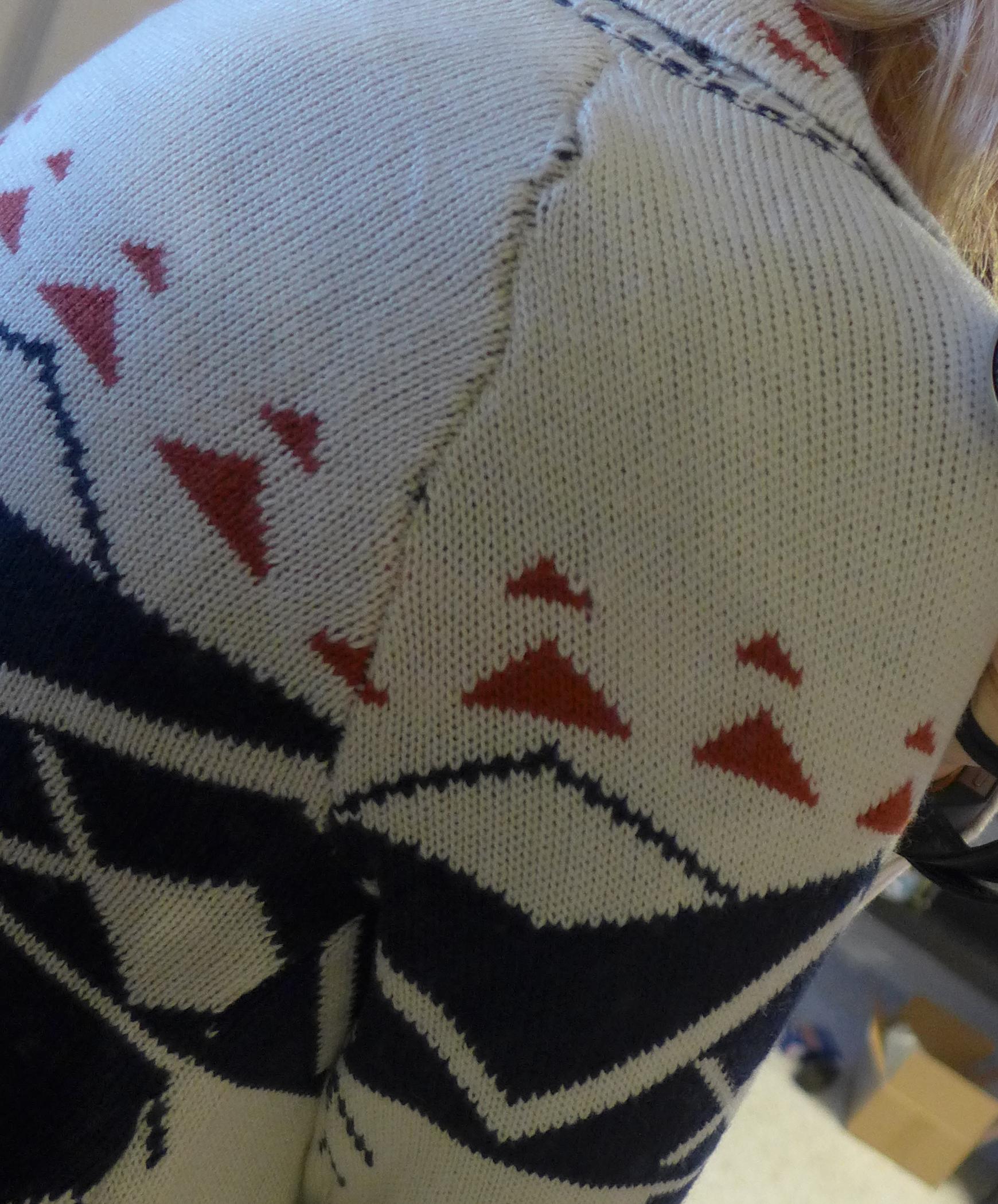 Fate Garvey Tribal Print Open Front Cardigan - Monika wearing detailed stitch - Stitch Fix