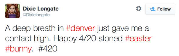 #420 non hashtagged tweet