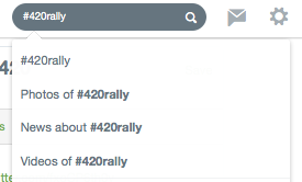 #420rally Twitter Search with Videos, Photos and News options
