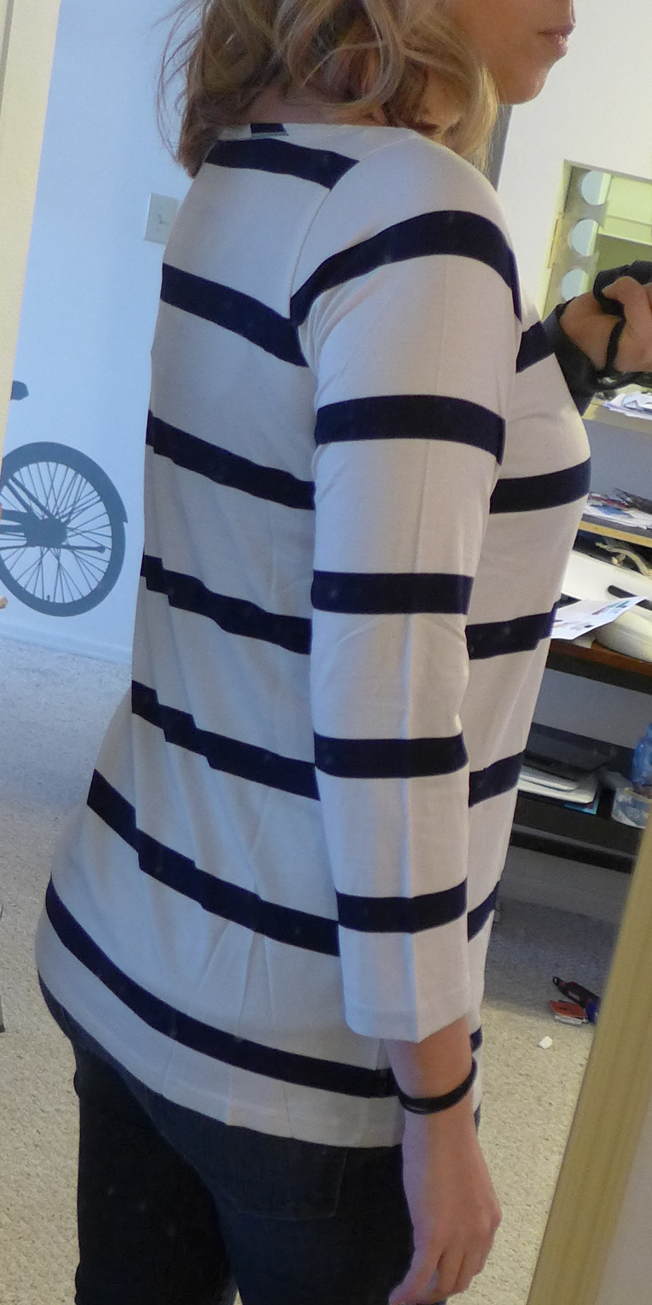 Stitch Fix Toss Vita Boat Neck Stripe Knit Shirt - Monika side view - Stitch Fix