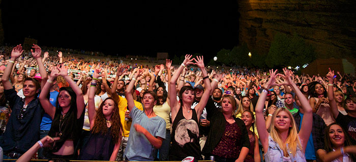 Red Rocks Denver Concert Crowd