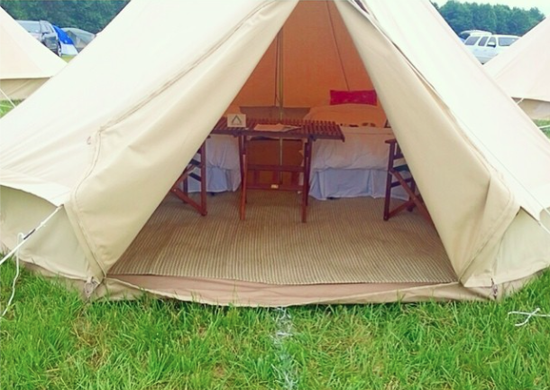 Glamping at Firefly Music Festival