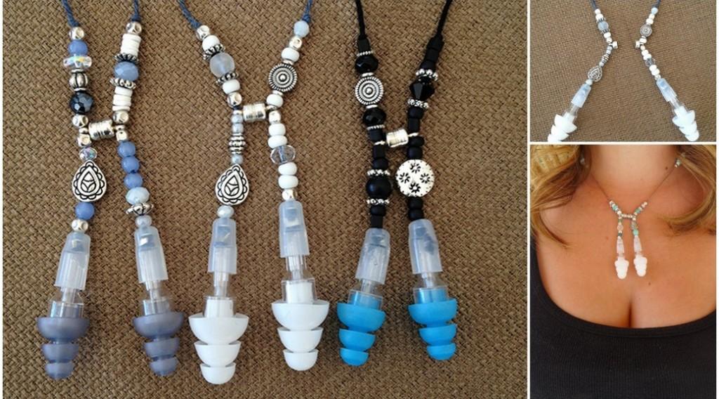 Noiselace earplug necklace collage