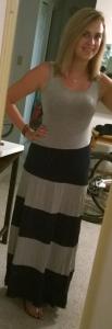 Stitch Fix Mystree Brad Striped Jersey Maxi Dress Full Front