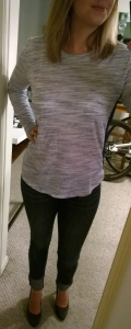 Stitch Fix - Under Skies Dover Sheer Back Knit Top Front View