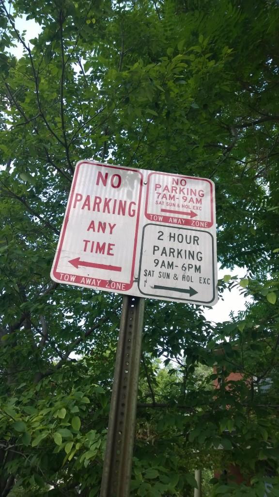 No Parking 7 am - 9 am