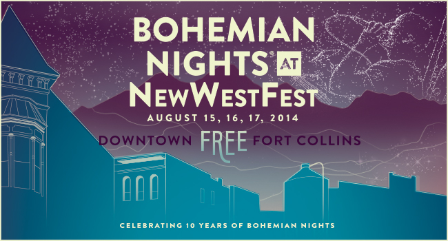 Bohemian Nights at New West Fest 2014 Logo