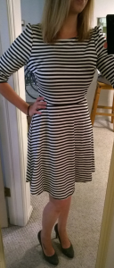 Stitch Fix Pixley Kathy Striped Fit & Flare Dress