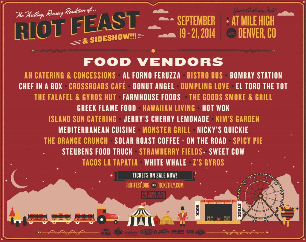Riot Fest Food Vendors in Denver