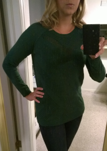 Stitch Fix - Market and Spruce - Yuna Chevron Pointelle Knit Sweater - Front View