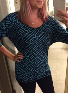 Stitch Fix - 41Hawthorn - Berneen Printed Dolman Sleeve Top - Front