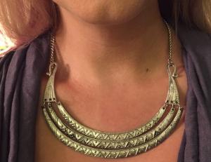 Stitch Fix - Zad - Jasmine Textured Layered Crescent Necklace - Close Up