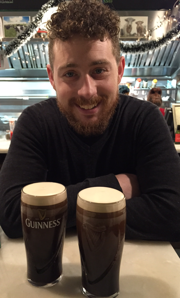 Jonathon and our first Guinness