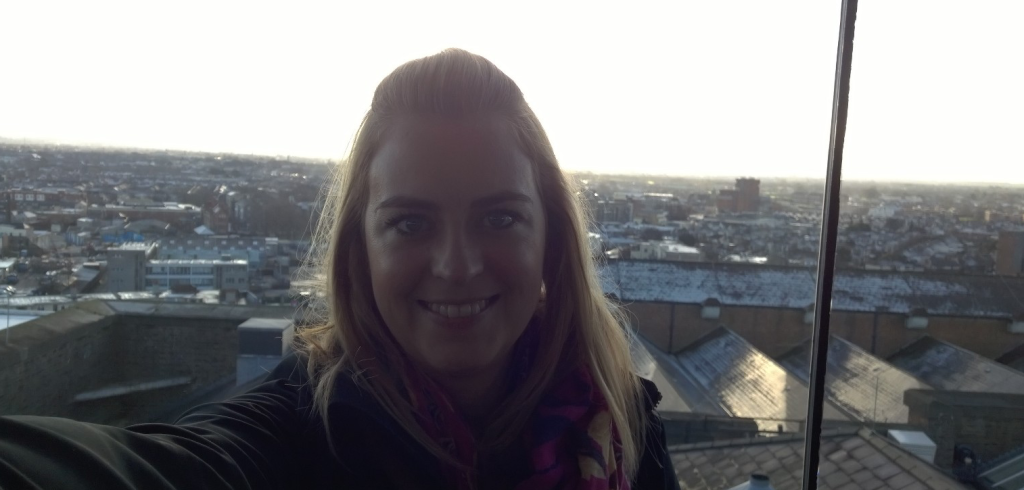 Monika McMahon Selfie at the Gravity Bar at Guinness Storehouse in Dublin, Ireland