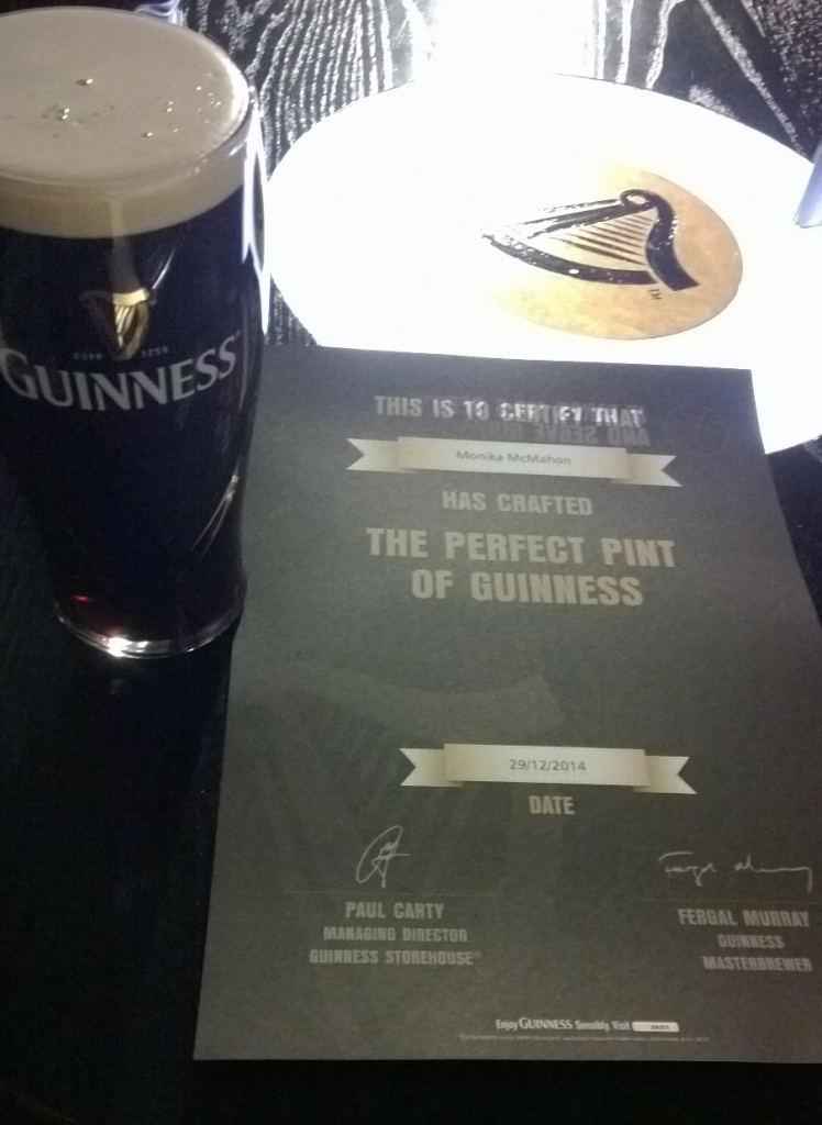 Monika McMahon crafted the perfect pint of Guinness