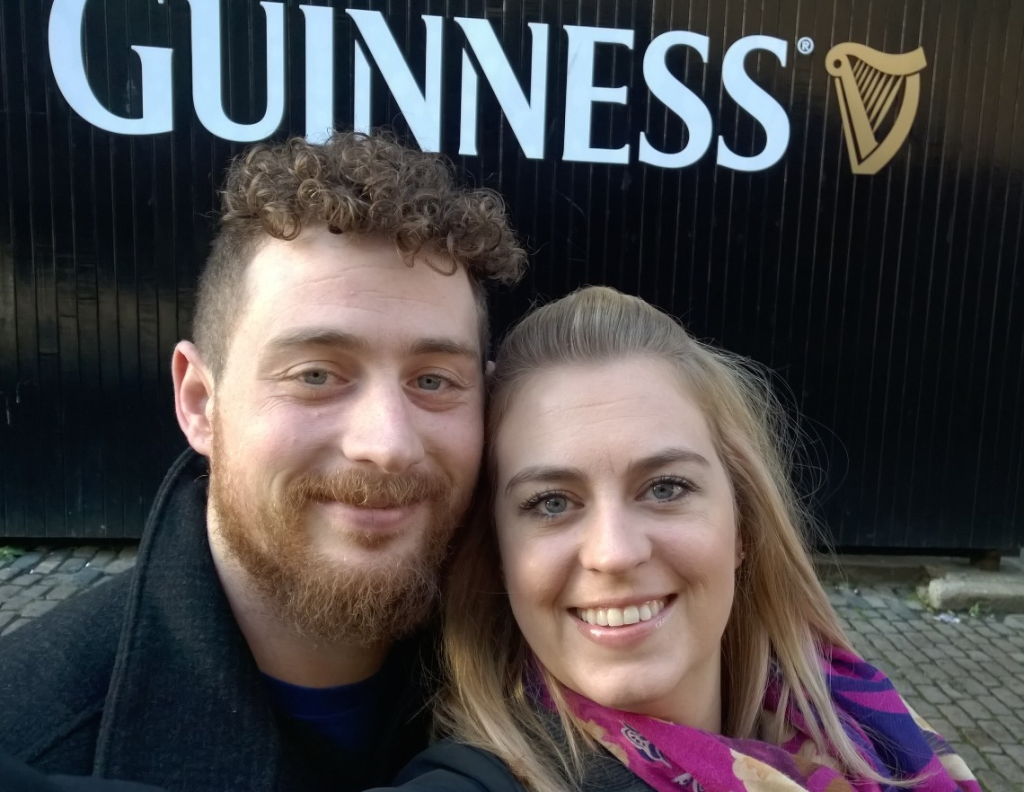 Monika and Jonathon at the Guinness Storehouse in Dublin Ireland