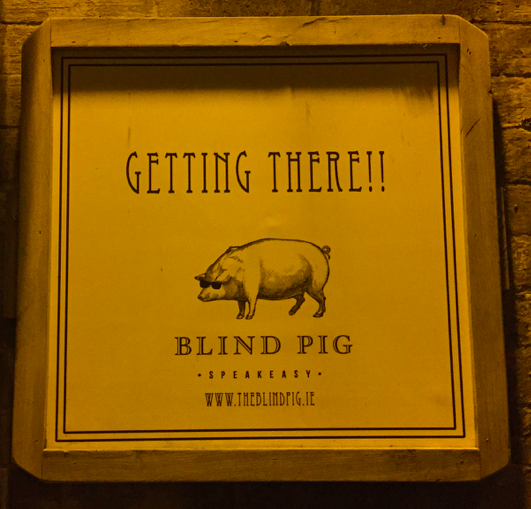 Blind Pig Posters in the Alley