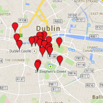 Google Map of our Dublin, Ireland Christmas Vacation