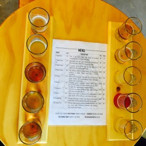 Climb Hard Cider Company's Flight