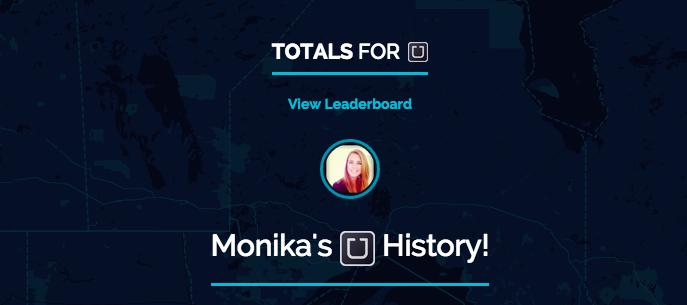 Monika McMahon's Uber Totals