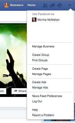 Drop Down with No Activity Log on a Brand Facebook Page