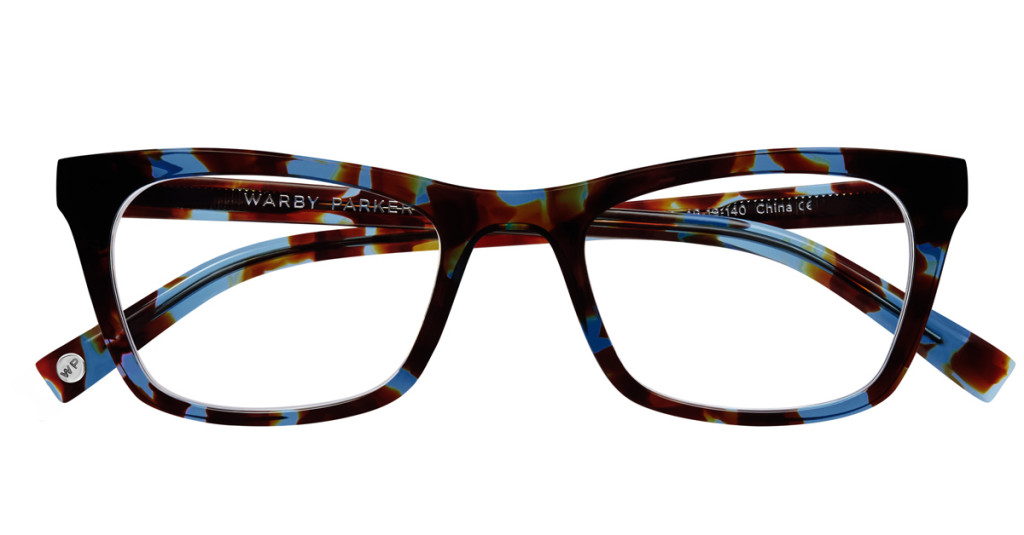 Warby-Parker_Simone_Blue-Coral_eyeglasses_topdown