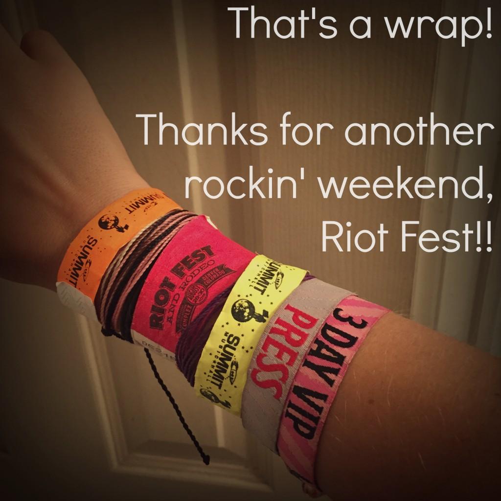 Wrap on Riot Fest