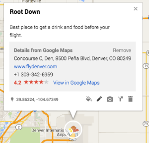 Editing a Pin on Your Personal Google Map